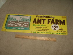 Vintage Store Display Ant Farm Toy 1960s Playset Comic Book Sign Poster 1