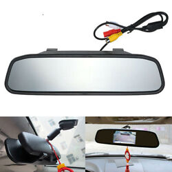 Car Mirror Rear View Mirror 4.3inch Tft Lcd Monitor Backup Rearview Parking