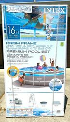 💦 Intex 16andrsquo X 48andrdquo Prism Frame Clearview Pool Set Above Ground W/ Filter Pump