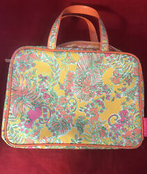 Lilly Pulitzer for Target Weekender Happy Place Cosmetic Bag Makeup Travel $25.00