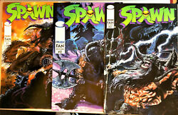 Spawn Comic Books Fan Edition 1-3 Rare And Collectible Issues Perfect Cond. Nm