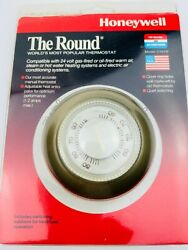 New Vintage Honeywell Heating/cond Thermostat The Round Ct87b 085267870245 Gold