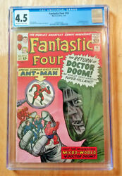 Fantastic Four 16 1963 Cgc 4.5 Ow To Wp Ant-man Crossover Dr Doom App