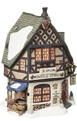 Department 56 Dickens Village E Tipler Agent Wine And Spirits Building 5658725