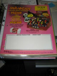 Pez Ad Sheet 1977 Halloween Skull Witch Monster Mr Ugly Salesman Pink 303