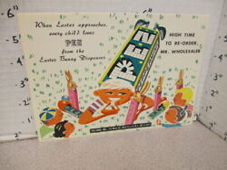 Pez 1950s Easter Bunny Store Display Candy Boy Cartoon Sign Postcard