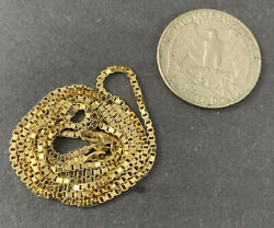 14k Solid Gold Heavy Strong Box Chain Necklace / Not Scrap / Not 10k