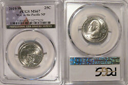 2019 W War In The Pacific Np Quarter 25c Pcgs Ms67 West Point