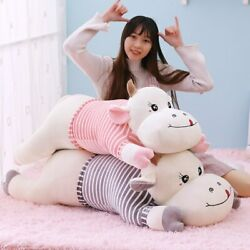 New Cute Giant Cows Plush Toy Soft Cattle Stuffed Animal Toys Cartoon Cow Pillow