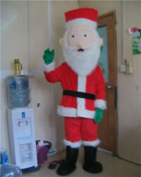 Santa Claus Mascot Christmas Fancy Dress Xmas Father Party Costume Adult Cosplay