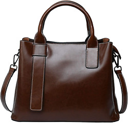 Genuine Leather Satchel Purses and Handbags for Women Shoulder Tote Bags Top Han $79.14