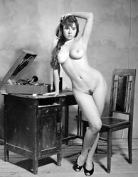 Vintage Photo 8.5x11 #17132 Busty Lovely Gal Posing