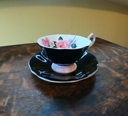 Queen Anne Tea Cup And Saucer - Made In England - Good Condition