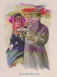 Automobiling American Thermos Bottle Company Ny Trade Card, Old Adv Postcard 11