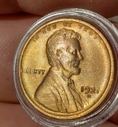2/1921s,red Bu,choice Lincoln Cents