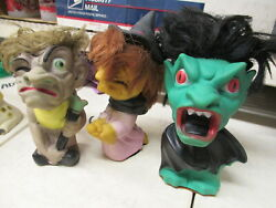 Play-pal 1964 Monster Toy 1 Rubber Figure Doll Halloween Broom Witch Only