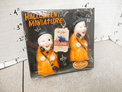 Capri Halloween Candles 1960s Witch Duo Monster Skeleton Mib