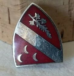 Wwii Usa Military Amico 7th Field Artillery Regiment Unit Enameled Pin