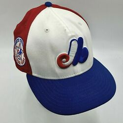Montreal Expos Fitted Cooperstown Collection All Star Game Patch Hat Cap Size 7