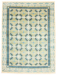 Hand-knotted Carpet 9'2 X 11'10 Modern Ivory Wool Rug