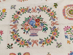 Hand Applique Baltimore Album Sampler Finished Quilt - The Best Of The Best