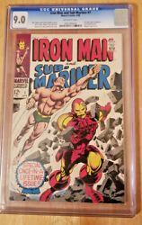 Iron Man And Sub-mariner 1 Cgc 9.0 Ow Pages 1968 Before Iron Man And Sub 1