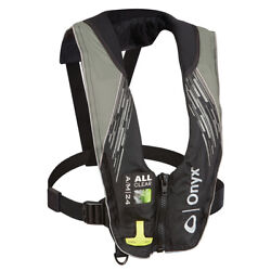 Onyx A/m-24 Series All Clear Automatic/manual Inflatable Life Jacket Gray
