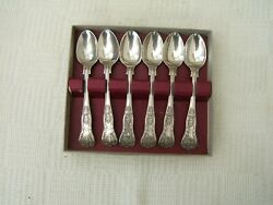 Antique Set Of Six Silver Plated Coffee Spoons.. Elkington And Co