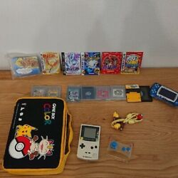 Pokandeacutemon Center Limited Game Boy Color Case Cable Crystal Red Etc