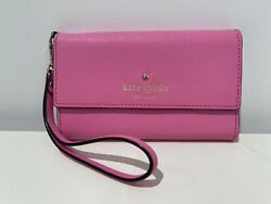 Kate Spade Wristlet Pink Saffiano Leather: cc and check holder and small mirror $26.00
