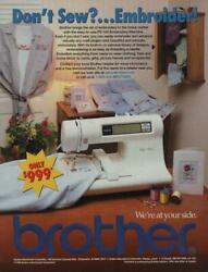 1999 Brother Sewing Machines Vintage Print Ad Page Pe-150 Embroidery Machine