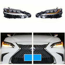 Led Headlights Assembly For Lexus Es 2018-2021 Led Drl Replace Factory Halogen
