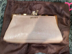 Kate Spade Queen Of The Nile Camel Clutch Women#x27;s Leather purse Camel textured $200.00