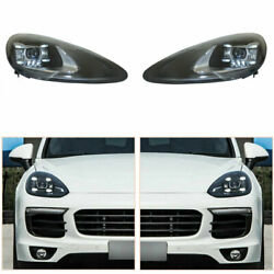 Led Headlight Assembly For Porsche Cayenne 11-14 Led Drl Replace Factory Halogen