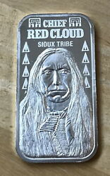 Chief Red Cloud Sioux Tribe 20 Grams .999 Fine Silver Bar Limited Edition 5000