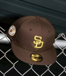 Hat Club Exclusive New Era San Diego Padres 1978 Asg Patch Brown/gold 7 3/8