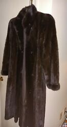 Vintage Full Length Brownish/black Mink Coat/womenand039s S/m/very Good Cond/best