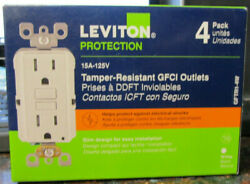Leviton M42-gftr1-04w  Outlets Tamper Resistant - White - 4 Pack