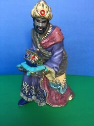 Replacement Figurine Wise Men King With Pillow And Box Of Jewels Costco Nativity