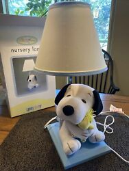Nursery Lamp Plush Snoopy Woodstock Lambs Ivy With Shade 20 Tall Works