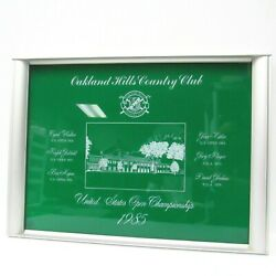 Rare Vtg 1985 Us Open Golf Championship Plaque Tray Oakland Hills Country Club
