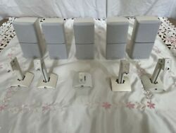 Five Bose Acoustimass Lifestyle Double Cube Speakers - White And Wall Mountandnbsp