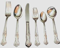 Vintage Rogers Magnolia Silver Plate And Extra Plate Silverware - 33 Pieces