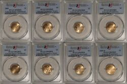 2009 P And D Lincoln 1c Cent 8 Coin Set Pcgs Sp69rd Satin Finish Ec Fy Pro Pres