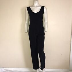 Issey Miyake Scope Neck Jumpsuit Stretch - Small S Black