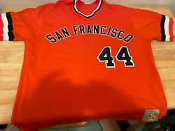 Super Rare San Francisco Giants Willie Mccovey Mitchell And Ness Jersey Size 3xl