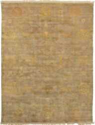 Vintage Hand-knotted Carpet 7and03911 X 10and0393 Traditional Geometric Wool Area Rug