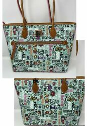 Disney It's A Small World Dooney And Bourke Tote Bag Purse