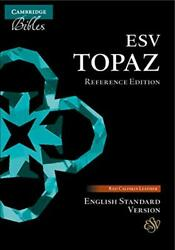 Esv Topaz Reference Edition, Cherry Red Calfskin Leather, Es675xr, Bible
