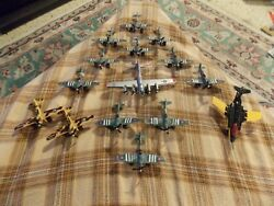 Vintage Tootsie Toy P40 B17 Spitfire Lesney S-2 Jet Lot Of 15 Diecast Airplanes
